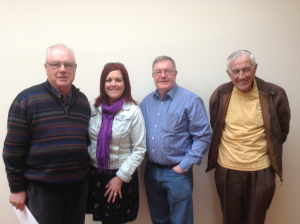 Current Community Representatives on Cork Local Drugs Task Force (less George), left to right, Tom Carey, Grainne Walsh, Aaron O'Connell and Donal Counihan