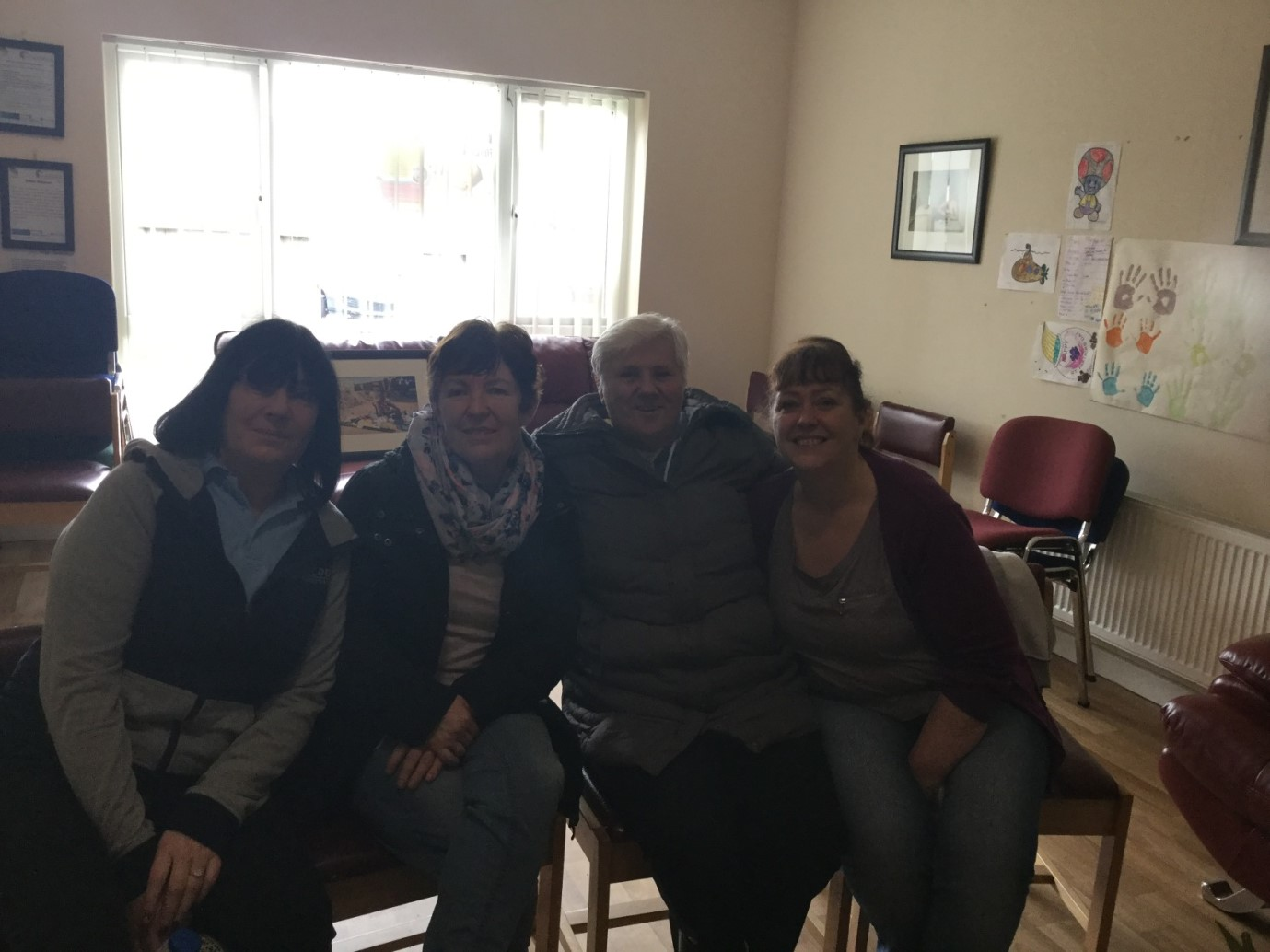 Community Tutor Toni (last on right) pictured with some of the women that have participated on the Cooking on A Budget Course. They are now learning about healthy desserts.